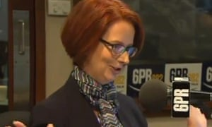 Julia Gillard speaks to Howard Sattler
