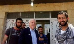 John McCain with Syria rebels