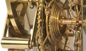 Closeup of John Harrison's H3 sea clock