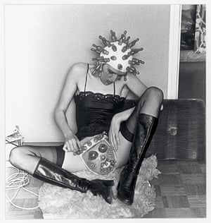 Photo Espana: Renate Bertlmann's Tender Pantomime, 1976. Black and white photograph (from
