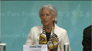 IMF head Christine Lagarde, June 24 2013