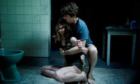 Willem Dafoe with Charlotte Gainsbourg in Lars von Trier's Antichrist.