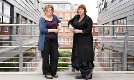 Clarissa Smith and Feona Attwood at Middlesex University