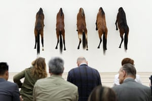 20 Photos: Five artworks, 'Taxidermied Horses', by Italian artist Maurizio Cattelan