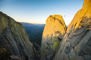 20 Photos: Highliner Scott Turpin Crosses Between The Needles Of California