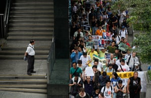 Hong Kong Rally: Supporters of Edward Snowden march to the US Consulate in Hong Kong