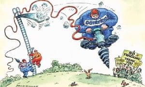 Dave Simonds cartoon on Centrica's shale gas bid