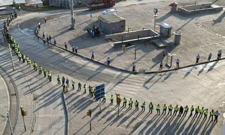 Police cordon off Taksim Square on Sunday morning.