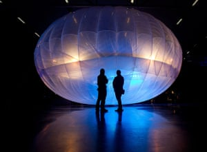 Google project loon: Google Project Loon balloon on display at Airforce Museum in Christchurch