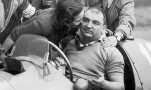 José Froilán González after his victory in 1951