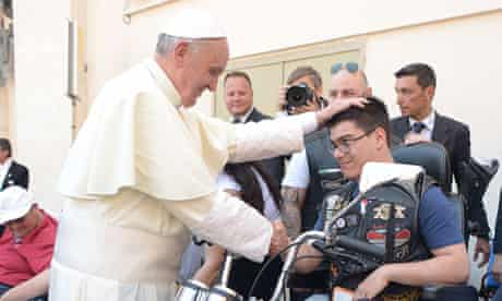 Pope Francis blesses motorcyclists for Harley-Davidson's 110th anniversary