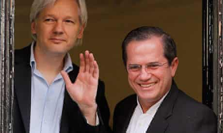 Julian Assange and Ricardo Patino