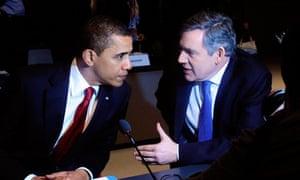 Obama and Brown at G20