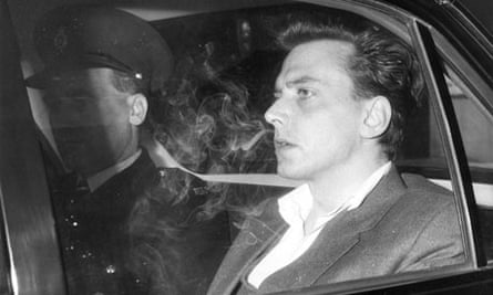 Ian Brady being driven off in a car in 1966 around the time of his conviction for the Moors murders