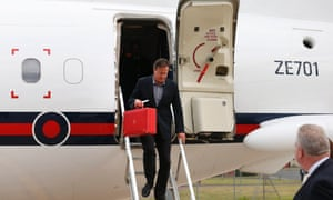 David Cameron arriving in Belfast yesterday for the G8 summit.