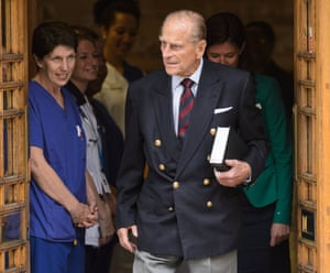 The Duke thanked medical staff at the London Clinic for their care and support.