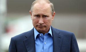 Russian President Vladimir Putin arrives at Belfast International Airport.