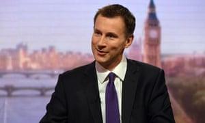 Health secretary Jeremy Hunt on the Andrew Marr Show