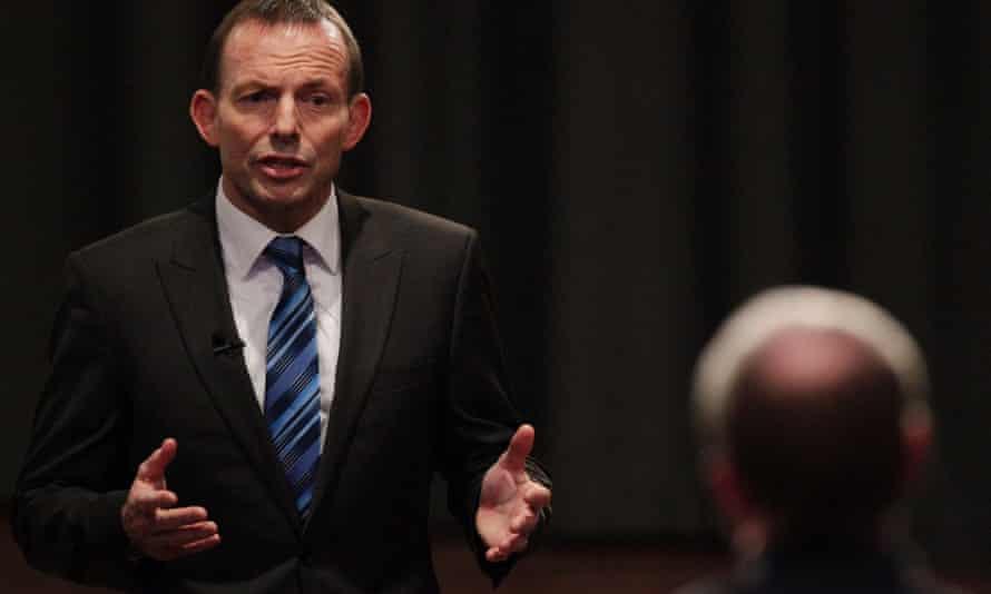 Tony Abbott. Photograph: Daniel Munoz/Reuters