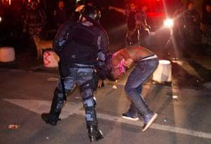 Brazil Protest:: military police