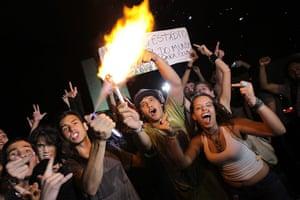 Brazil Protest:: Demonstrators protest