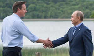 David Cameron greets Vladimir Putin, Enniskillen, Northern Ireland 17/6/13