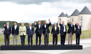 The G8 leaders pose for a group photograph at Lough Erne, Northern Ireland