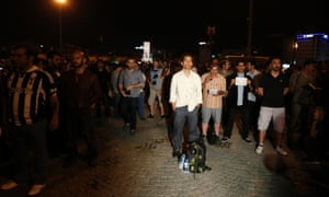 Stand and be counted: Turkish choreographer Erdem Gunduz during a 'duranadam', or standing man protest, in Taksim Square, Istanbul. Gunduz reportedly stood in silence for around six hours during the early hours.