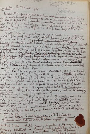 GNM Archive - Vita Sackville-West notebook page