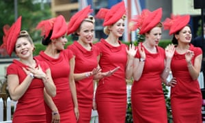 The Tootsie Rollers perform during the Royal Ascot meeting.