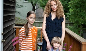 Katie Roiphe with her children Violet and Leo