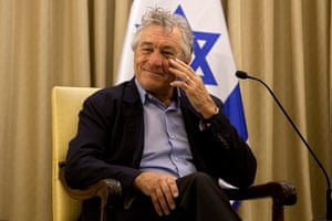 Peres's party: Robert De Niro  visits Israel's President Shimon Peres