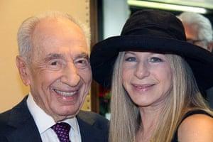 Peres's party: Barbara Streisand meets Peres