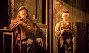 Pat Shortt and Daniel Radcliffe in The Cripple of Inishmaan, Noel Coward, London