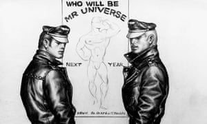A detail from an untitled 1963 drawing by Tom of Finland