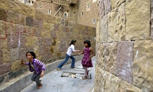 Yemeni children play in the old city of Sana'a. UNICEF has called for Yemen to ensure that the rights of children are fully written into a new constitution, as the country is currently engaged in a national dialogue.
