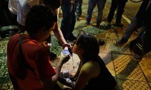 brazil protester