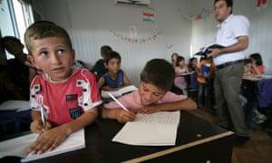 Syrian refugee children in Iraq