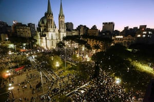 Brazil protests continue: Students take part in a demonstration at Praca da Se, in Sao Paulo