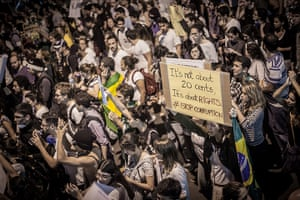 Brazil protests continue: Protest rally gathers more than one hundred thousand in Rio de Janeiro