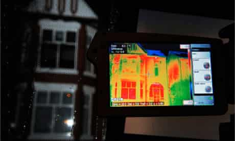 Heat loss from homes is measured in Salford to help residents who may need to improve home insulatio