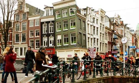 Old city in Amsterdam