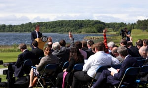 Cameron speaking during a press conference at the conclusion of the G8 summit in the Lough Erne resort yesterday.