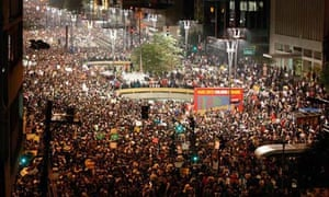 Protest Burst Out Over Public Transport Price Hike In Brazil