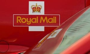 A Royal Mail delivery van