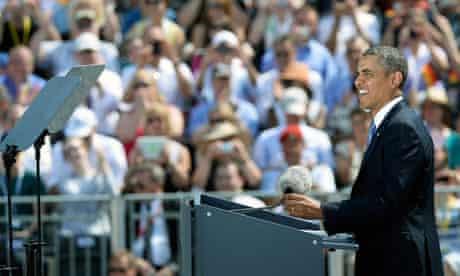 Obama speaking in Berlin