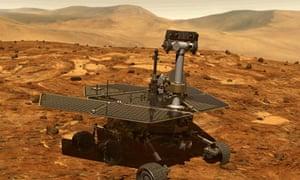 Artist's impression of the Spirit rover on Mars