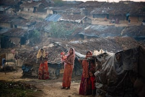 Rohingya refugees: Outside Kutupalong Refugee Camp