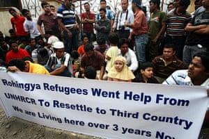 Rohingya refugees: Rohingya refugees protest