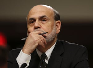 Federal Reserve Board Chairman Ben Bernanke testifies before the Joint Economic Committee in Washington in this May 22, 2013 file photo.